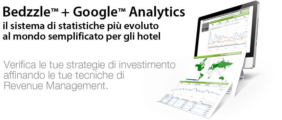 Bedzzle Google Analytics, statistiche hotel revenue management
